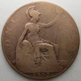 Великобритания 1 пенни 1912 год
