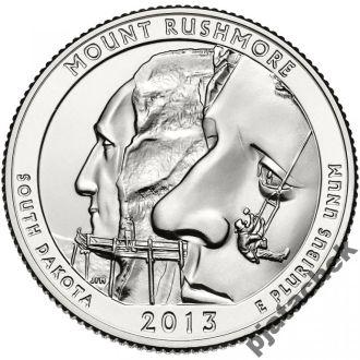 25 центов США Южная Дакота гора Рашмор  2013 г.