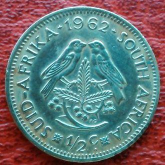 ЮАР, 1/2 цента,1962 г.