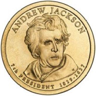 1 Доллар Эндрю Джексон Jackson США UNC 2008 D