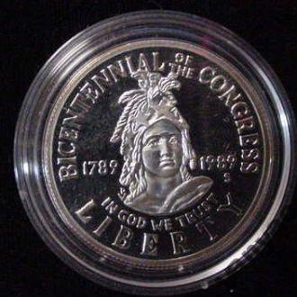 50 центов 200-летие Конгреса (1989) (Пруф) (S) UNC