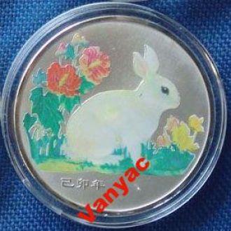 Памятная Юбилейная монета Год Кролика Кролик Китай