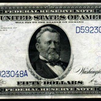 50 Долларов / Dollars (США) (1914) (Состояние!!!)