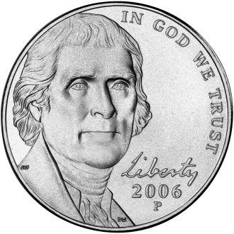 5 центов 2006 P UNC США
