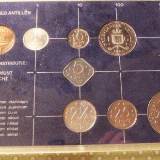 Антилы 1985 набор монет Антильские о. буклет UNC
