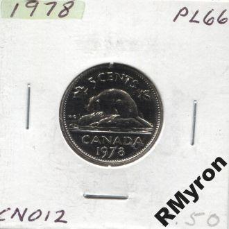 Канада (1978) - 5 центов - СОСТОЯНИЕ!!!