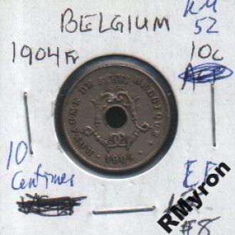 Бельгия (1904) - 10 сантимов - СОСТОЯНИЕ!!!