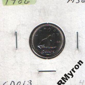 Канада (1986) - 10 центов - СОСТОЯНИЕ!!!