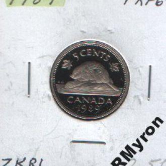 Канада (1989) - 5 центов - СОСТОЯНИЕ!!!