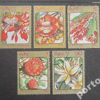 5 марок Куба 1984 цветы
