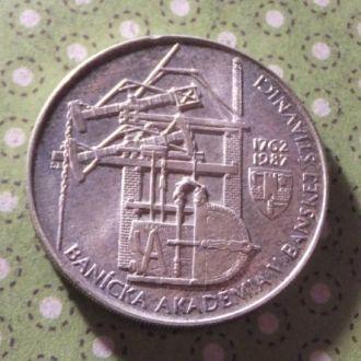 Чехословакия 1987 год монета 100 крон серебро !