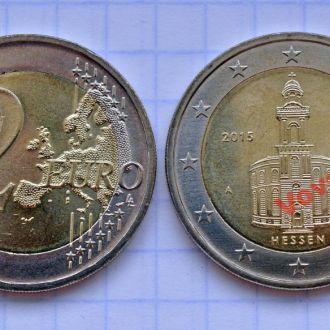 Германия 2 евро Гессен 2015