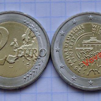 Германия 2 евро 25-летие объединения Германии 2015