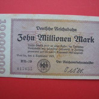 10 Миллионов Марок 1923,(2,5) Германия