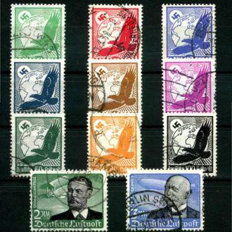 Немецкая империя 1934 Дирижабль Мі 529-539 95 евро
