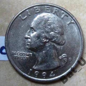 США. 25 центов 1994 г.