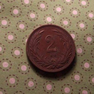 Венгрия 1915 год монета 2 филлера !