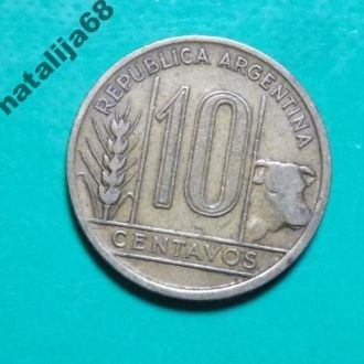Аргентина 1943 год монета 10 сентаво !