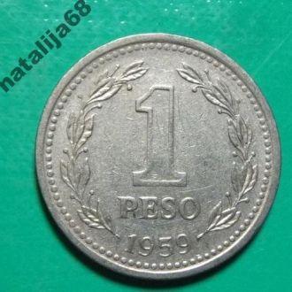 Аргентина 1959 год монета 1 песо !
