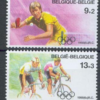 Бельгия 1988 олимпиада велоспорт 2м.**