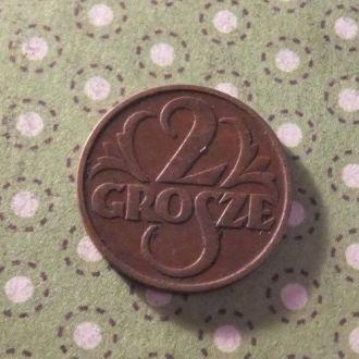 Польша 1935 год монета 2 гроша !