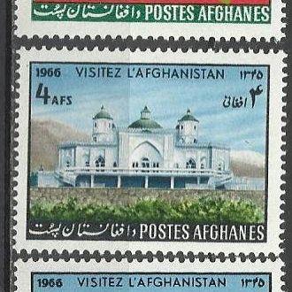 Афганистан 1966 туризм карта архитектура 3м.**