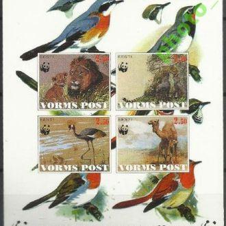 Эстония Вормс 1998 ВВФ фауна львы птицы бл.**