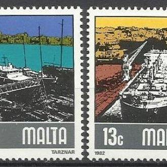 Мальта 1982 транспорт корабли верфь 4м.**
