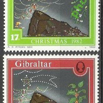 Гибралтар 1982 Рождество 2м.**