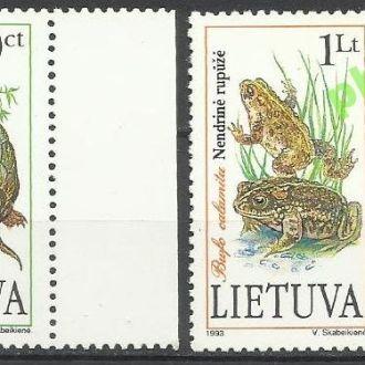 Литва 1993 фауна земноводные 2м.**