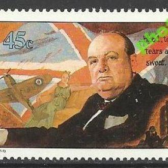 Маршаллы 1990 авиация Черчилль W7 1м.**