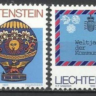 Лихтенштейн 1983 Европа даты транспорт воздушный ш