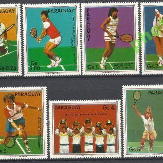 Парагвай 1986 спорт теннис 7м.**