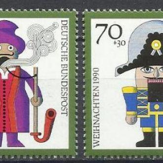 Германия 1990 Рождество искусство религия 4м.**
