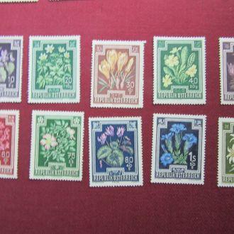 1948 г .АВСТРИЯ цветы 10 марок
