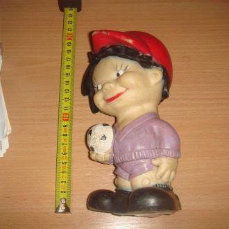 игрушка ФУТБОЛИСТ (резиновая) СССР 70-80гг.