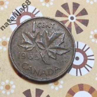 Канада 1965 год монета 1 цент !