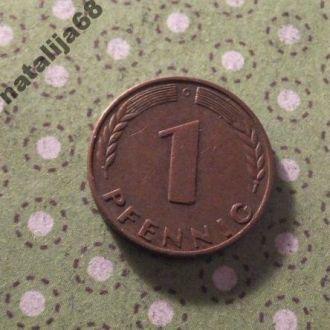 Германия 1968 год монета 1 пфенинг G !