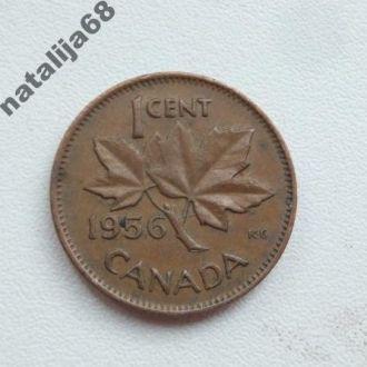 Канада 1956 год монета 1 цент !