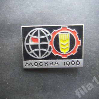 значок с/х выставка Москва 1966