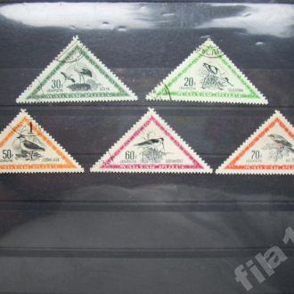 5 марок Венгрия 1952 птицы