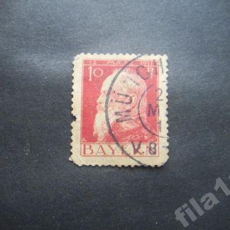 марка Германия Бавария 1911