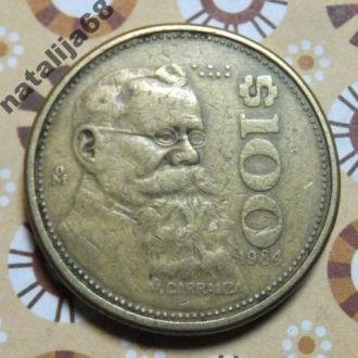 Мексика 1984 год монета 100 песо !