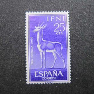 марка Ифни Испания 1964 фауна косуля