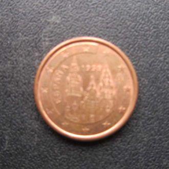 1 евроцент Испания 1999