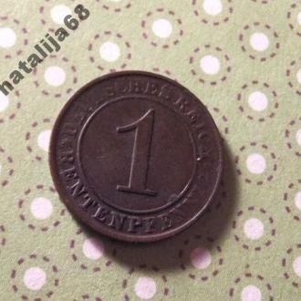 Германия 1924 год монета 1 пфенинг A !