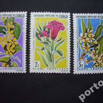 3 марки Конго цветы н/гаш