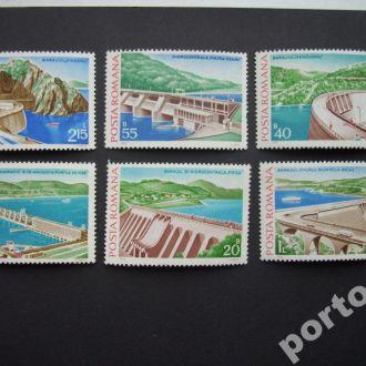 6 марок Румыния 1978 плотины MNH
