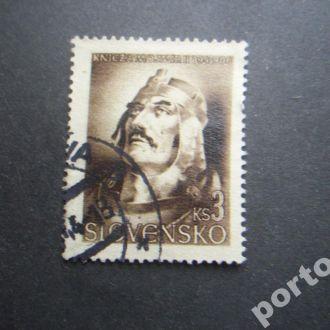марка Словакия 1944 стандарт 3 кроны
