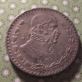 Мексика 1958 год монета 1 песо серебро